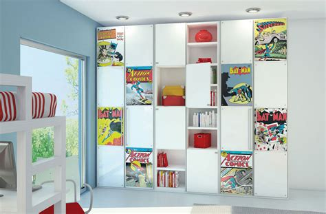 Book Storage Ideas For Bedroom comic book storage with figure decor interior