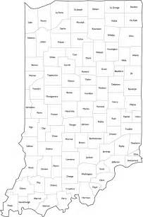indiana county map with county names