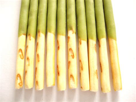 Pocky Greentea Stick pocky matcha green tea covered biscuit sticks snackeroo