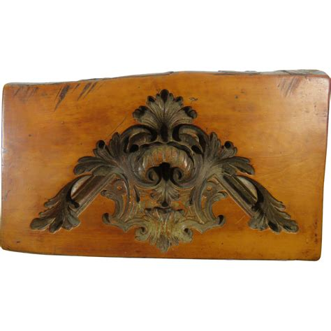 wood pattern mold french architectural wood block plaster pattern mold 18th