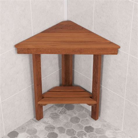 Teak Corner Shower Stool by Chic Teak Corner Shower Bench The Homy Design