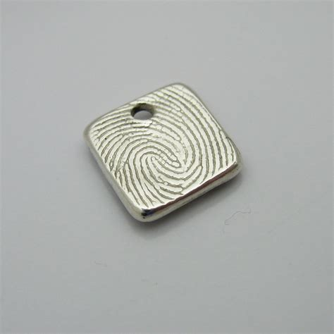 how to make fingerprint jewelry fingerprint jewelry square fingerprint charm personalized