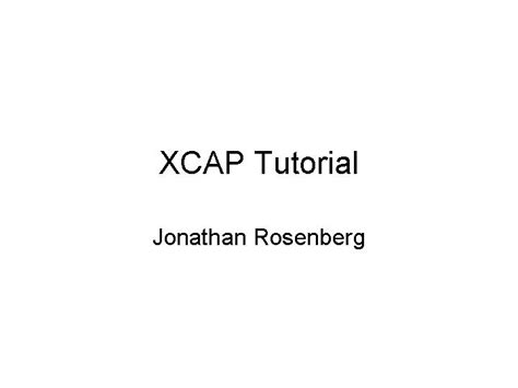 xml namespaces tutorial video xcap tutorial authorstream
