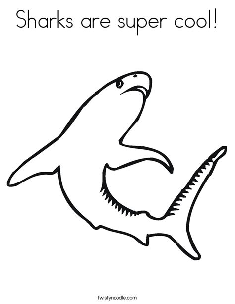cool coloring pages of sharks sharks are super cool coloring page twisty noodle