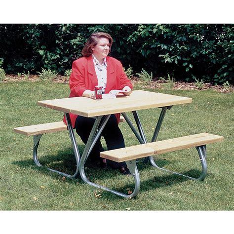 picnic table frame kit pilot rock picnic table frame kit 122670 patio furniture at sportsman s guide