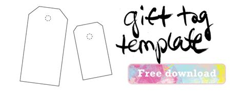gift tag template free outline tags new calendar template site