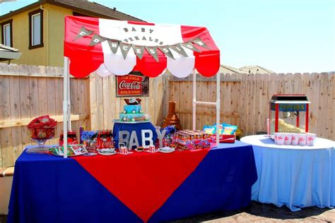 Baby Shower Baseball Theme Decorations Event Design Company Party Rental Draping