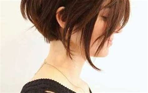 long bob with razored ends and side swept bangs medium asymmetrical short bob haircut for women this is a chic