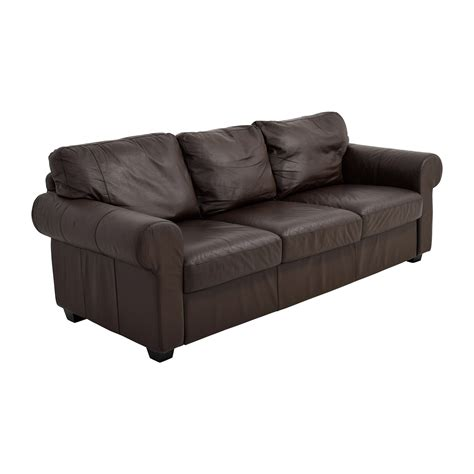 cushions for dark brown sofa 62 off ikea ikea dark brown three cushion leather couch