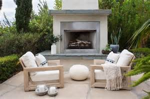 alyssa rosenheck white stucco patio fireplace