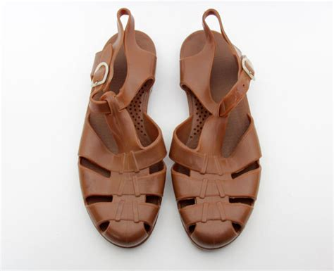 mens jelly sandals vintage jelly sandals mens brown jellies size eur 44