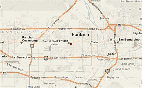 map of fontana ca fontana location guide