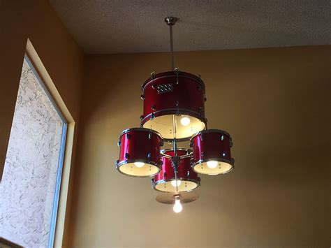 diy drum light fixture how to make a drum set chandelier