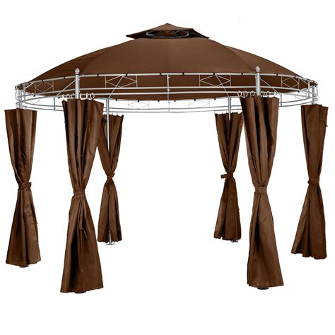 round gazebo with curtains luxury gazebo garden round 216 350cm party tent with side