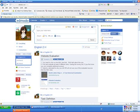 edmodo class code teaching and learning with tech in hps edmodo in the