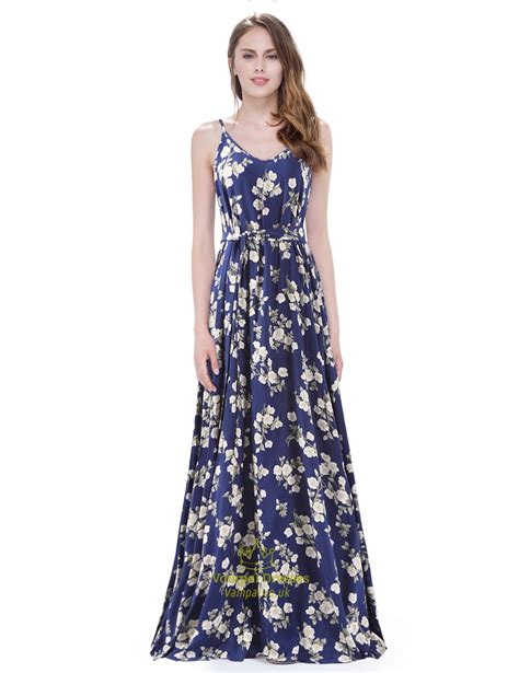 spaghetti sleeveless a line floor length floral