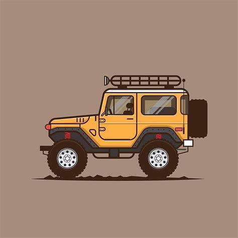 Toyota Land Cruiser Digital Illustration By Jaylineart