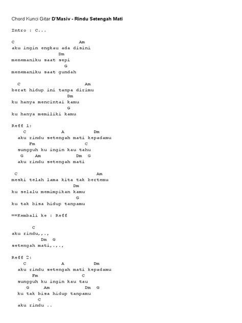 Husmanss: Chord Ukulele Lagu Hanya Rindu