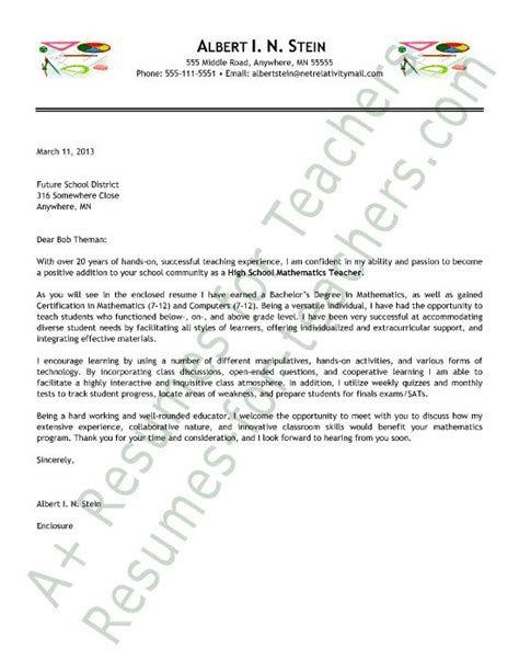 Cover Letter For Math by Math Cover Letter Sle And Principal Cover Letter Sles