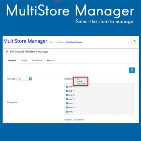 opencart layout manager opencart multistore manager