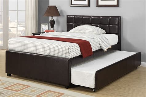 double trundle bed bedroom furniture espresso full size bed with twin size trundle children
