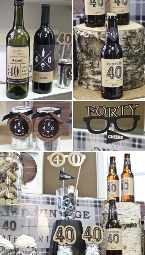 birthday themes male bottoms up 40th birthday party ideas for guys 40th