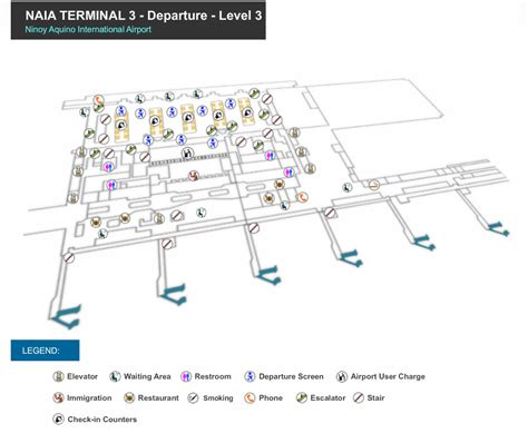 naia terminal 1 floor plan manila airport map