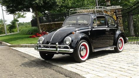 black volkswagen bug vw bugs 1966 vintage volkswagen black beetle sedan