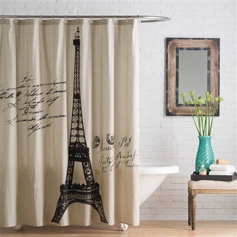 Bed Bath Shower Curtain eiffel tower bathroom decor curtains office and bedroom