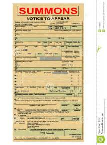 summons ticket to court stock photo image 4438900
