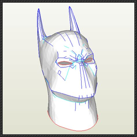 Papercraft Batman Mask - batman cowl mask papercraft free