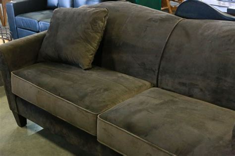 ashley furniture brown microfiber couch brand new ashley furniture brown microfiber sofa and throw