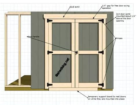 double shed doors   garden shed door hardware