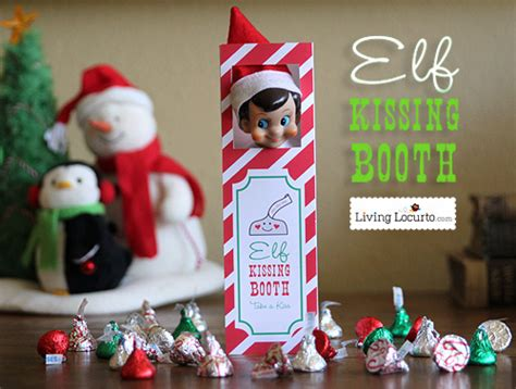 printable elf kissing booth jedi craft girl elf on the shelf ideas