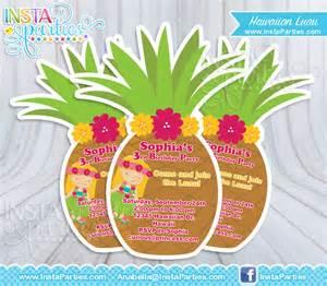 luau invitations pineapple hawaiian invitation invites