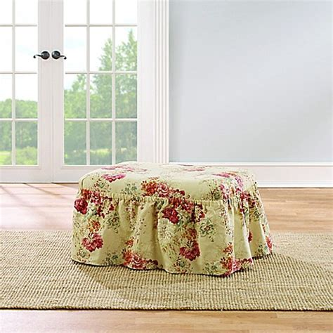 sure fit waverly ballad bouquet sofa slipcover sure fit 174 ballad bouquet by waverly ottoman slipcover