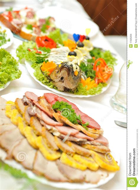 table with tasty food stock photos image 17025203
