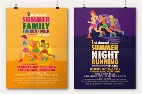 running flyer template summer run flyer poster flyer templates on creative market