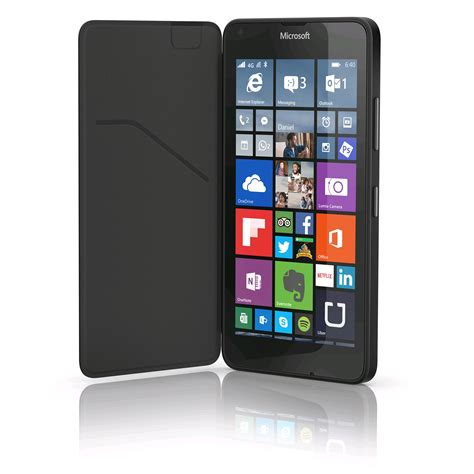 Hp Nokia Lumia 640 Xl Nokia Flip Shell For Lumia 640 Xl With Card Holder Black Cc 3090 Expansys Uk