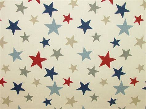 nautical upholstery nautical red blue funky stars cotton curtain upholstery fabric