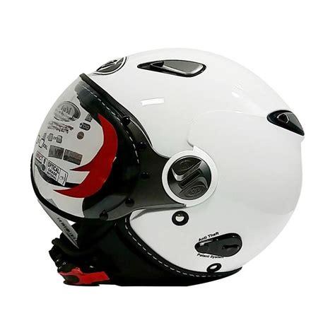 Helm Kyt Elsico Solid jual kyt elsico helm half solid white harga kualitas terjamin blibli