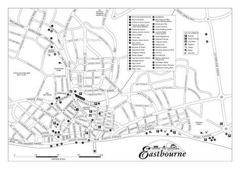 Printable Map Eastbourne | central eastbourne map