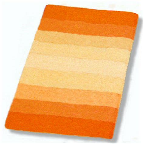 Palace Striped Plush Bathroom Rug In Orange Blue Or Red Orange Bathroom Rug