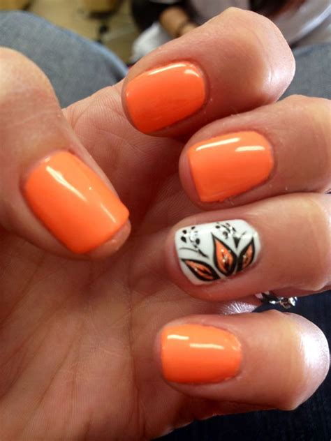 orange pattern nails 60 stylish orange nail art designs