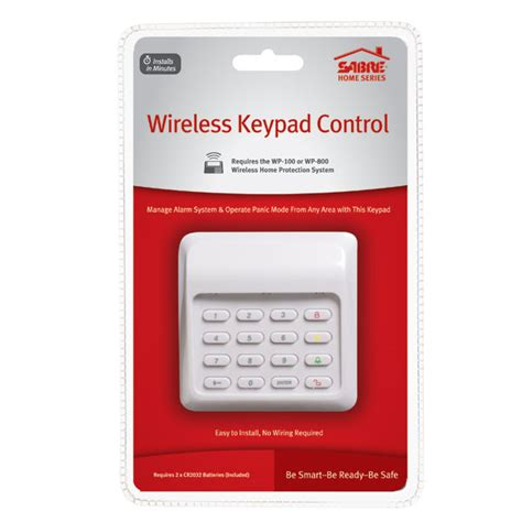 wireless keypad sabre home alarm keypad