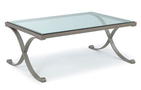 the clean cut edginess of rectangle glass top coffee table