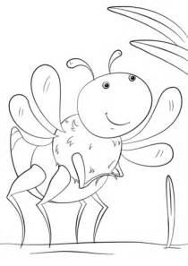 dibujo de insecto de dibujos animados para colorear
