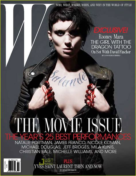 rooney mara dragon tattoo rooney mara w magazine cover photos february 2011