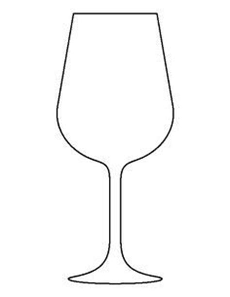 wine glass template wine bottle pattern use the printable outline for crafts