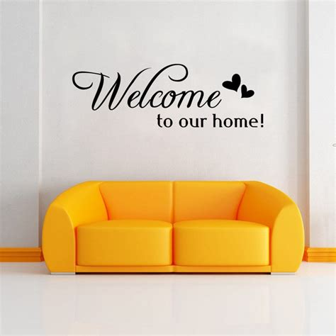 zuczug welcome to our home quote wall stiker home